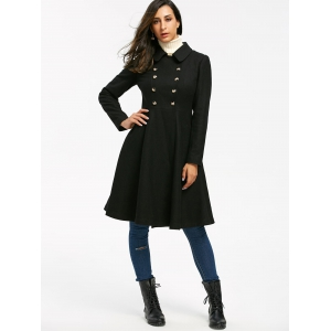 Double Breasted High Waist Dress Coat -