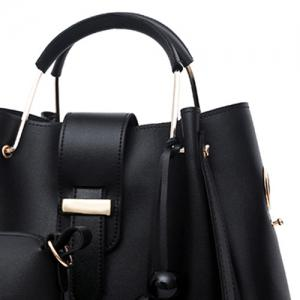 3 Pieces Tassel Faux Leather Tote Bag Set -