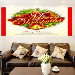 Multifunction Jingle Bell Pattern Wall Sticker - COLORFUL 1PC:24*24 INCH( NO FRAME )