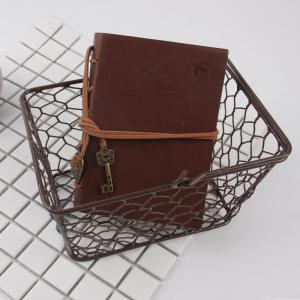 Household Hand Holding Metal Storage Basket - BROWN