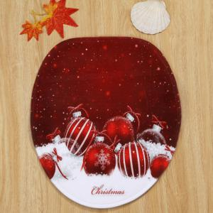 Christmas Baubles Snowfield Pattern 3 Pcs Bath Mat Toilet Mat -