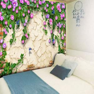 Flower Print Mottled Wall Hanging Tapestry - COLORMIX W59 INCH * L51 INCH