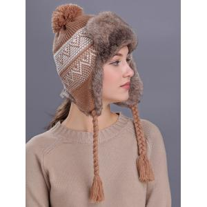 Outdoor Wave Stripe Pattern Knitted Winter Hat -