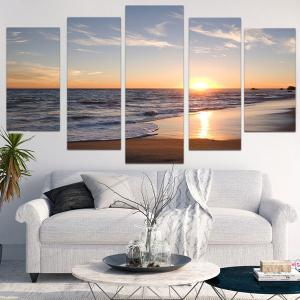 Unframed Sunset Beach Pattern Canvas Paintings -