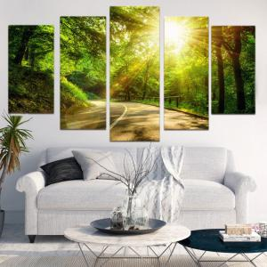 Woods Sunlight Print Unframed Canvas Painting -