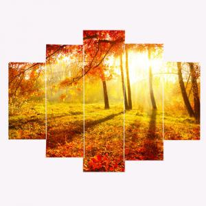 Unframed Sunshine Maple Pattern Canvas Paintings -