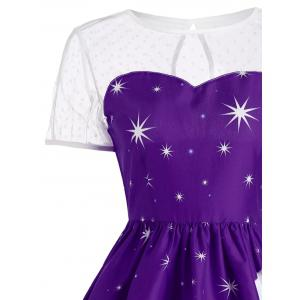 Santa Claus Deer Vintage Christmas Dress - CONCORD S