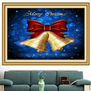 Christmas Bells Patterned Multifunction Wall Art Painting - BLUE AND YELLOW 1PC:24*35 INCH( NO FRAME )
