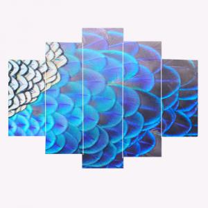 Feather Printed Wall Art Canvas Painting -