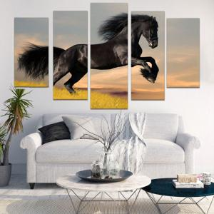 Unframed Steed Print Split Canvas Paintings -