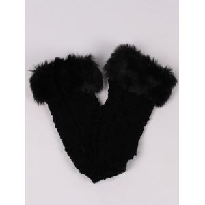 Soft Fur Winter Knitted Fingerless Gloves -