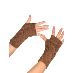 Tree Branch Shape Hollow Out Knitted Fingerless Gloves -