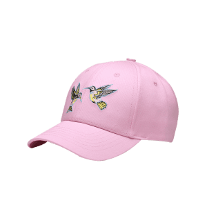 Flying Bird Embroidery Decorated Baseball Hat - PINK