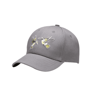 Flying Bird Embroidery Decorated Baseball Hat - GRAY