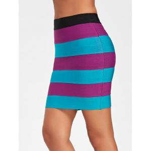 Bodycon Color Block Bandage Skirt -