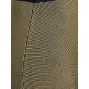 Contrast Color Bodycon Bandage Skirt - ARMY GREEN L