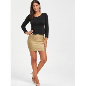 Metallic Bodycon Bandage Skirt -
