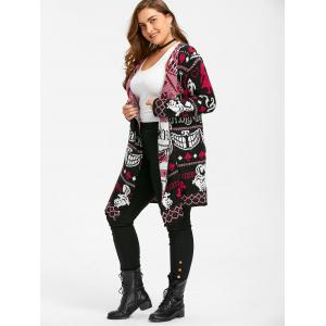Ugly Christmas Plus Size Sweater Drape Cardigan -