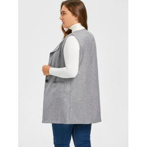 Plus Size Pocket One Button Waistcoat -