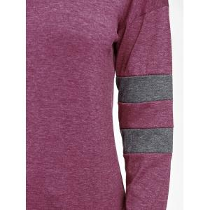 Drop Shoulder Color Block Sweatshirt -