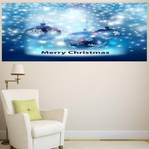 Multifunction Christmas Snow Balls Pattern Wall Sticker -