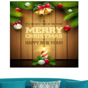 Colored Christmas Candle Multifunction  Decorative Wall Sticker -