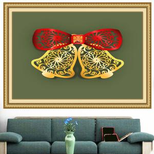 Christmas Bells Cut Print Multifunction Wall Art Painting -