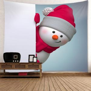 Wall Hanging Christmas Naughty Snowman Printed Tapestry -