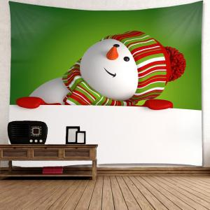 Wall Art Snowman Print Christmas Tapestry -