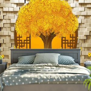 Copper Coin Money Tree Printed Wall Tapestry -