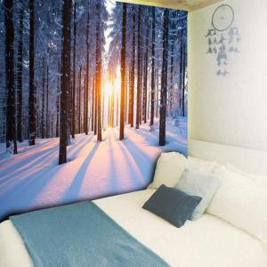 Bedroom Decor Snowscape Print Wall Tapestry -