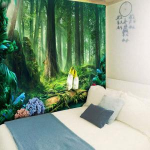 Wall Art Beautiful Original Forest Print Tapestry -