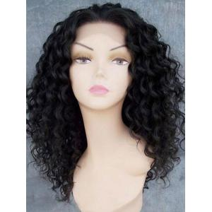 Long Free Part Fluffy Afro Kinky Curly Lace Front Synthetic Wig -