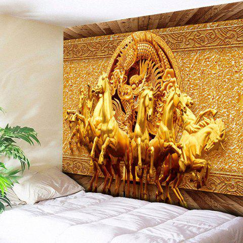 Shop Unicorns and Dragon Printed Wall Art Tapestry GOLDEN W59 INCH * L51 INCH