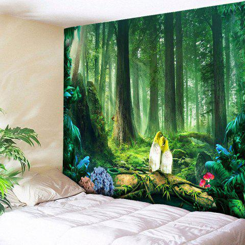 Shops Wall Art Beautiful Original Forest Print Tapestry - W79 INCH * L59 INCH GREEN Mobile