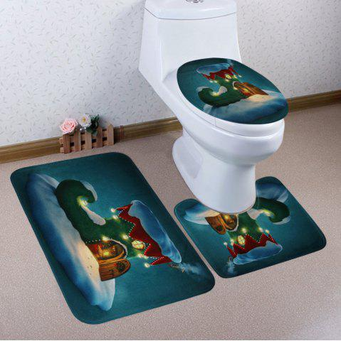 Trendy Christmas Boot House Pattern 3 Pcs Bath Mat Toilet Mat - COLORMIX  Mobile