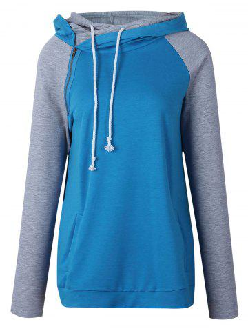 Outfits Color Block Raglan Sleeve Hoodie