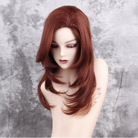 Outfit Long Side Bang Tail Adduction Layered Straight Synthetic Wig