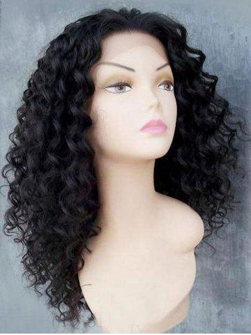 Shops Long Free Part Fluffy Afro Kinky Curly Lace Front Synthetic Wig - BLACK  Mobile