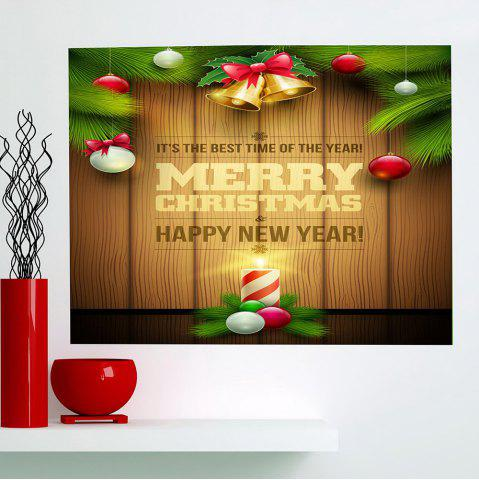 Outfit Colored Christmas Candle Multifunction  Decorative Wall Sticker - 1PC:24*35 INCH( NO FRAME ) COLORFUL Mobile