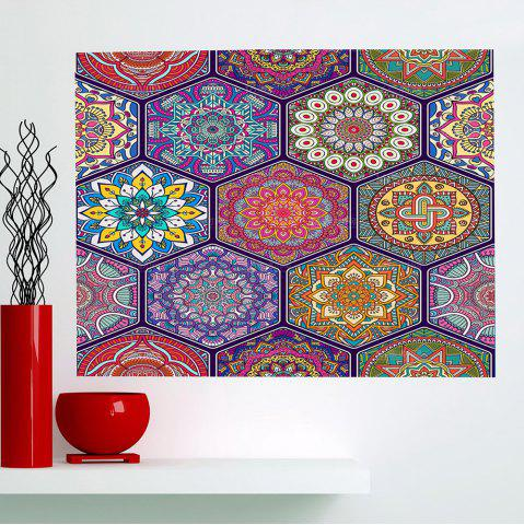 Fancy Bohemian Graphic Pattern Multifunction Decorative Wall Sticker COLORFUL 1PC:24*24 INCH( NO FRAME )