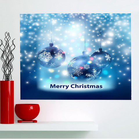 Chic Multifunction Christmas Snow Balls Pattern Wall Sticker BLUE 1PC:24*35 INCH( NO FRAME )