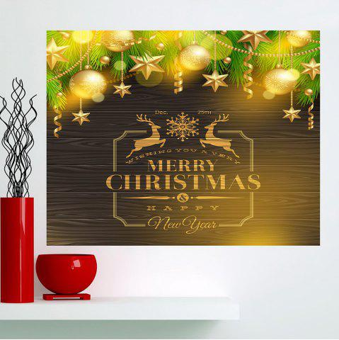 Online Multifunction Golden Baubles Pattern Wall Sticker - 1PC:24*35 INCH( NO FRAME ) GOLDEN Mobile