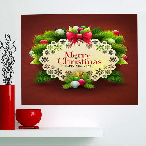 Fashion Merry Christmas Graphic Pattern Multifunction Decorative Wall Sticker - 1PC:24*24 INCH( NO FRAME ) COLORFUL Mobile