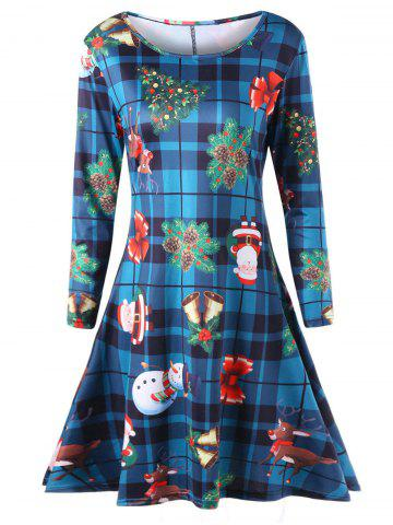Shops Plus Size Long Sleeve Plaid Christmas Dress