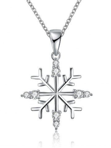 Shops Christmas Snowflake Design Drop Necklace SILVER
