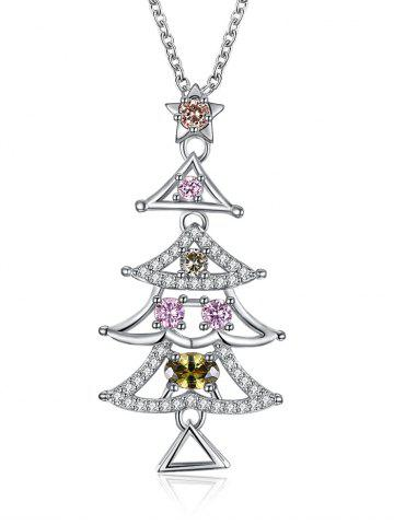 Fancy Christmas Triangle Tree Design Drop Necklace