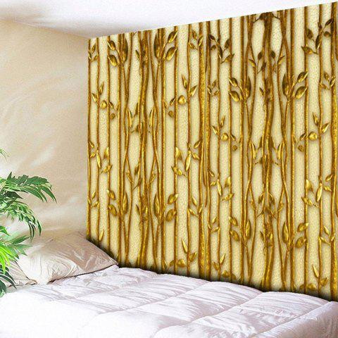 Best Wall Hanging Plant Printed Bedroom Tapestry GOLDEN W59 INCH * L51 INCH