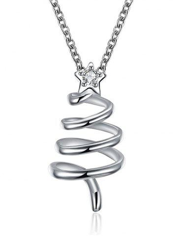 Shops Christmas Spiral Tree Design Drop Necklace