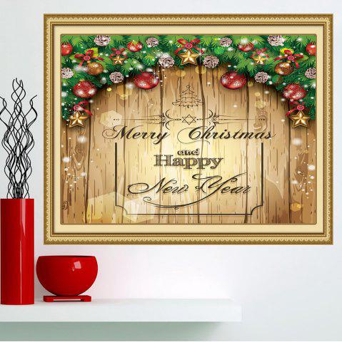 Latest Merry Christmas Decorations Print Multifunction Wall Art Painting - 1PC:24*35 INCH( NO FRAME ) YELLOW Mobile